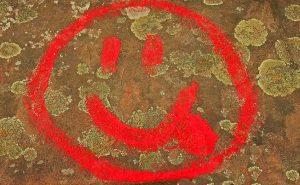 Bild: Smiley-Graffiti