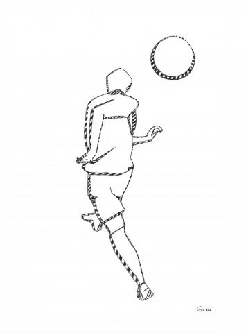 Zeichung Fußballer