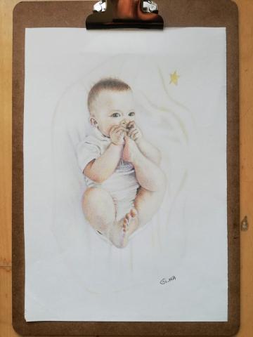 Zeichnung/Drawing Baby