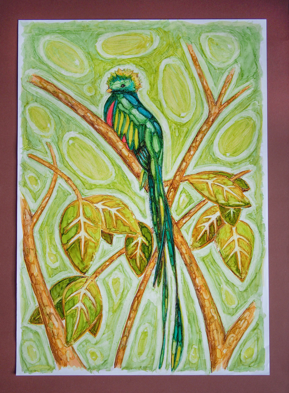 Painting Quetzal