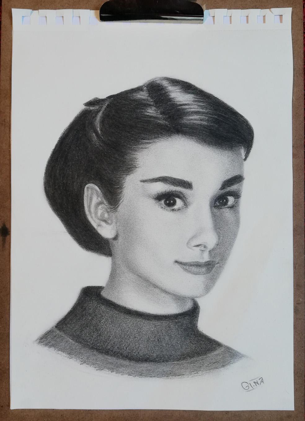 Drawing Audrey Hepburn