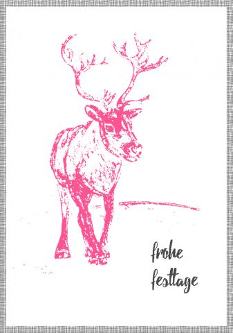 Xmas Card Pen Drawing