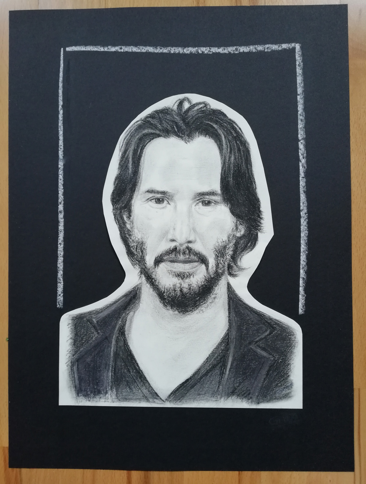 Keanu Portrait Charcoal