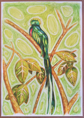 Quetzal Painting Copic Markers