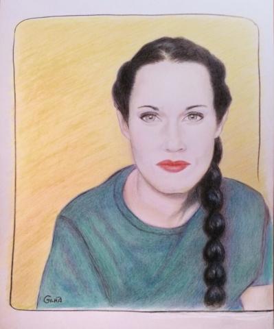 Portrait Drawing Teal Swan